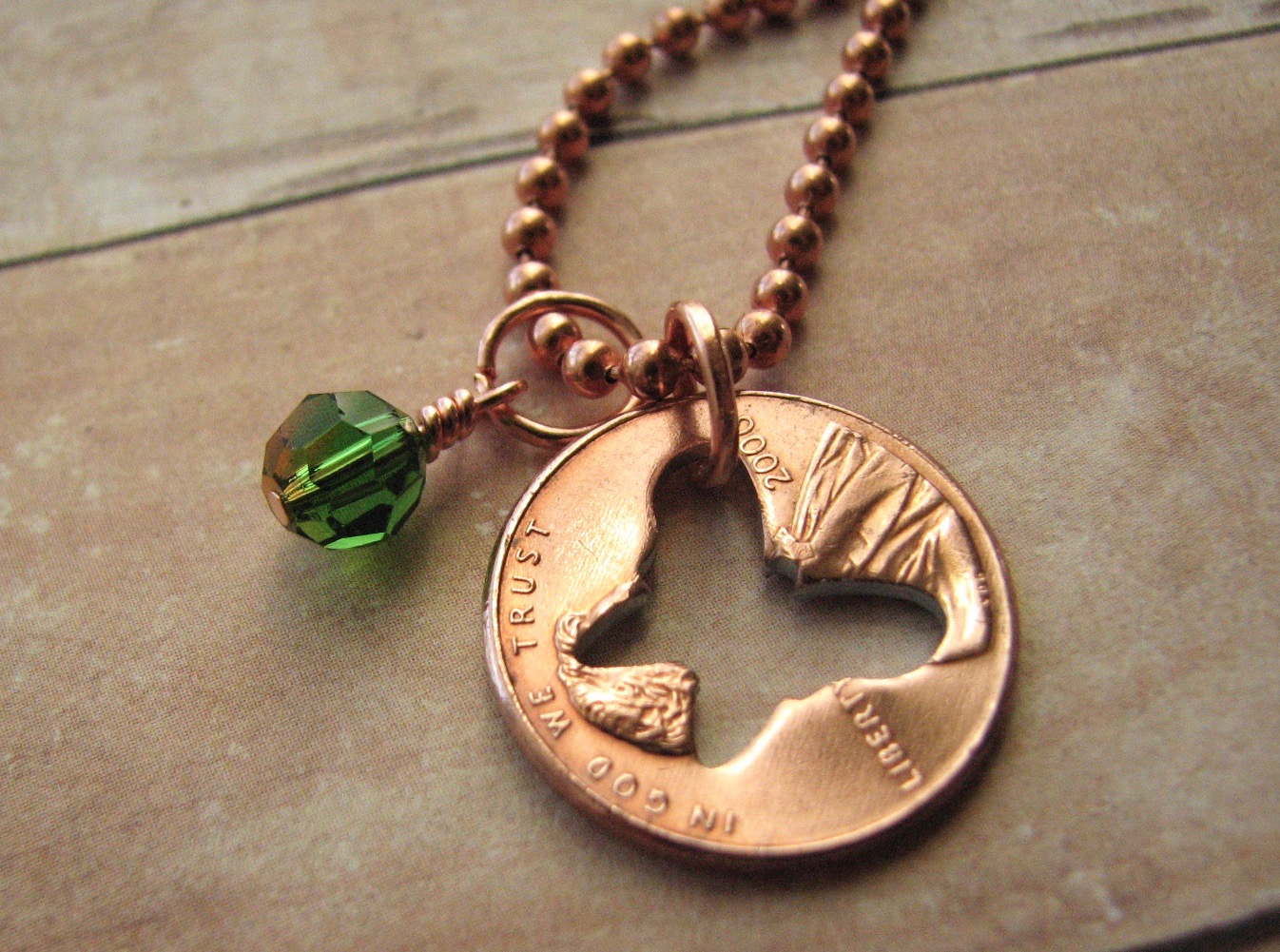Stamped Penny from Heaven Necklace - The Butterfly