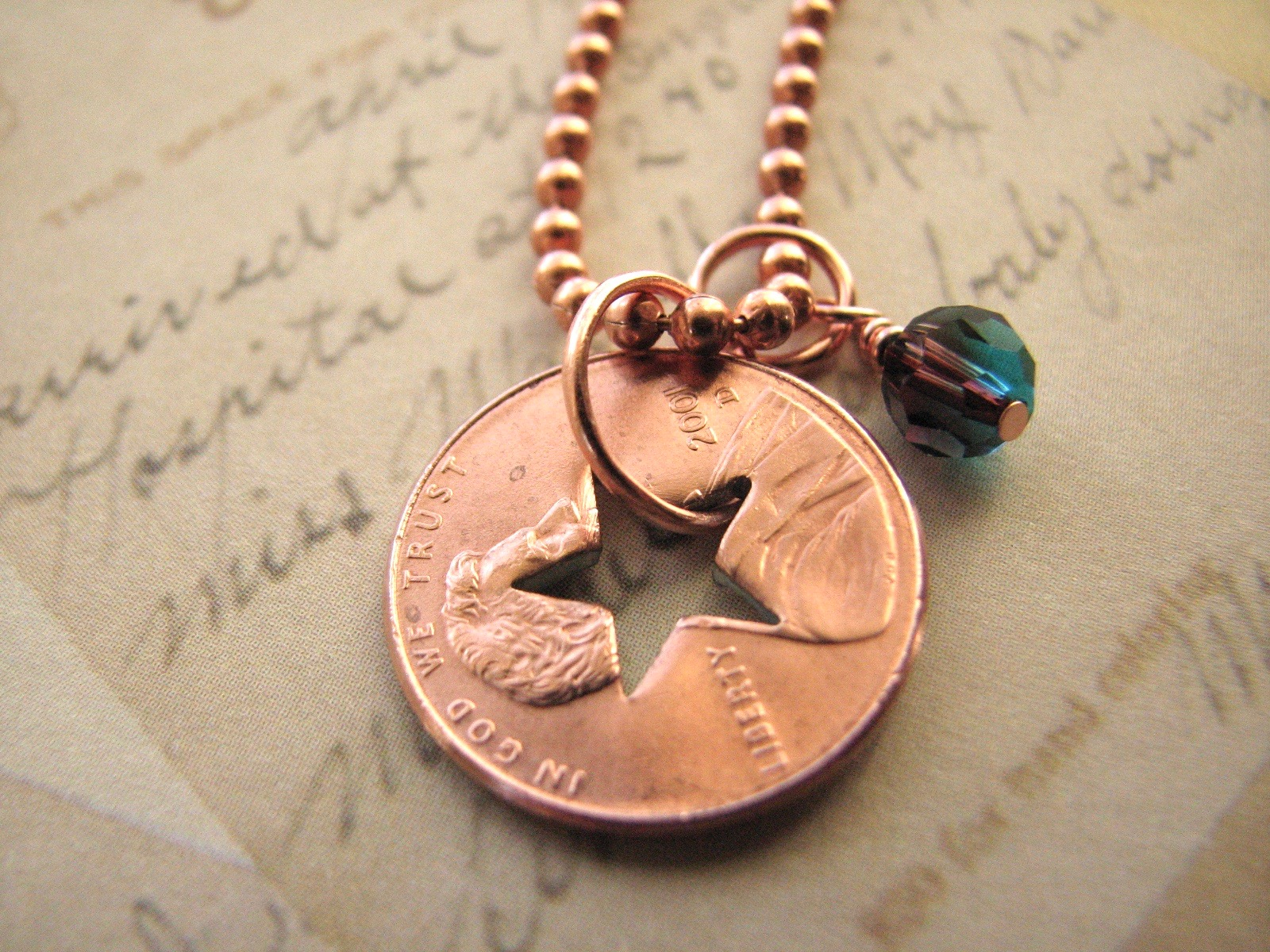 Stamped Penny from Heaven Necklace - The Star