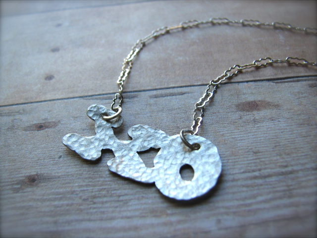 XO Necklace in Sterling Silver - Hugs & Kisses